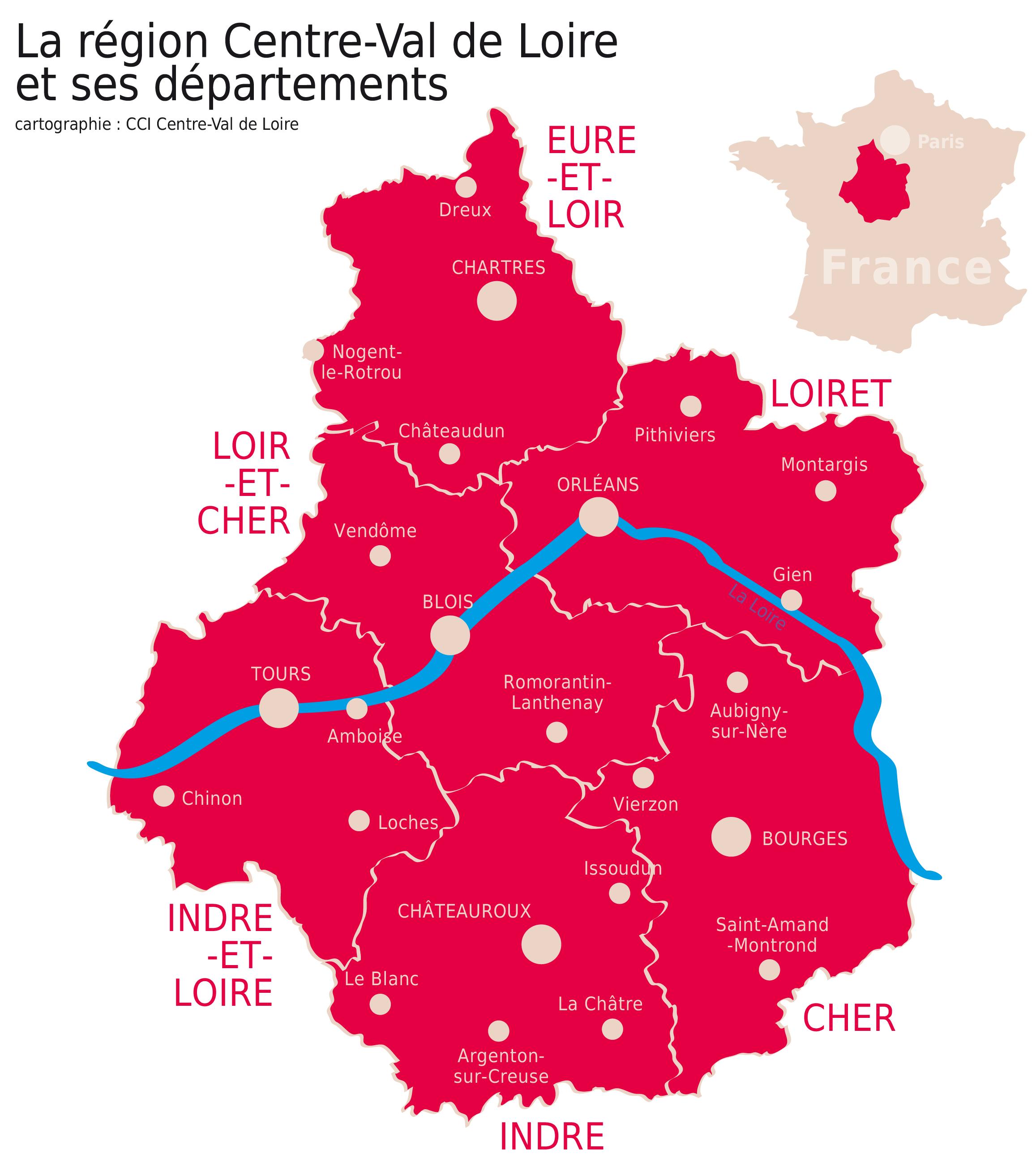 Carte De La Region Cci Centre Vdl